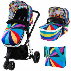Sistem 3 in 1 Giggle Go Brightly Editie Limitata - Carucior copii 2 in 1 Cosatto