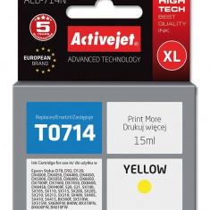 Cartus compatibil T0714 C13T071440 Yellow pentru Epson, Premium Activejet, Garantie 5 ani - Cartus imprimanta