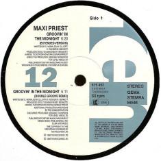 Maxi Priest - Groovin' In The Midnight 1992 disc vinil Maxi Single Reggae-Pop - Muzica Reggae
