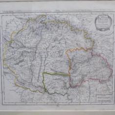 Carte itineraire du Royaume d'Hongrie, Principaute de Transilvanie - Harta Romaniei