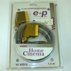 Cablu SCART - SCART tata - tata / aurit 1.5m(848) - Adaptor
