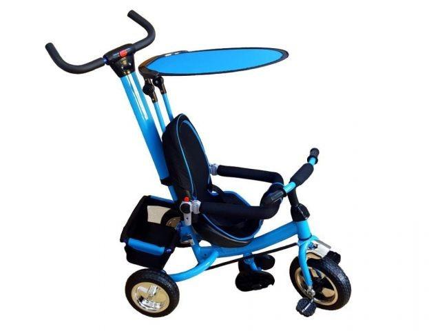 Tricicleta copii cu parasolar - albastru foto mare