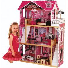 Casa de papusi din lemn Amelia KidKraft casuta cu doua scari interioare