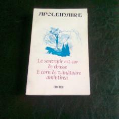 E CORN DE VANATOARE AMINTIREA - APOLLINAIRE