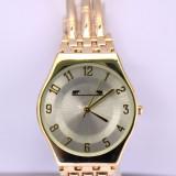Ceas elegant de dama MATTEO FERARI auriu, design italian, bratara metalica
