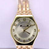Ceas elegant de dama MATTEO FERARI auriu, design italian, bratara metalica - Ceas dama, Quartz, Analog