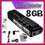 Reportofon Digital Profesional 8GB, 850 ORE inregistrare, Activare Vocala - Camera spion