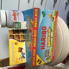 SET DULCE -CUTIE HARIBBO CU 50 DE MINI PUNGUTE -NUTELLA SI CIOCOLATA - Biscuiti copii