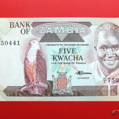 ZAMBIA - 5 Kwacha ND ( 1980 ) - UNC - bancnota africa
