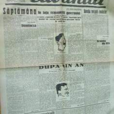 Cuvantul 11 noiembrie 1929 Nae Ionescu Maniu Prahova posta Brosteni Iorga