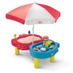 Masuta Pentru Nisip Si Apa Cu Umbreluta - Spatiu de joaca Little Tikes