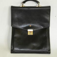 Geanta de umar, Borseta vintage pentru barbati din piele ecologica 35cm x 27cm - Borseta Barbati