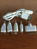 Cumpara ieftin Set mufe incarcare 5 in 1, Mufe: micro USB, mini USB, iPhone 4/5/6/7/8/x, Nokia
