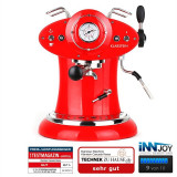Klarstein Cascada Rossa aparat espresso cappuccino retro roșu 1160W 15bar