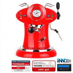 Klarstein Cascada Rossa aparat espresso cappuccino retro roșu 1160W 15bar - Detector metale