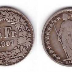 Elvetia 1907 - 1/2 frank