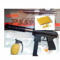 CEL MAI PUTERNIC PUSCOCI AIRSFOT, PROPULSIE SPRING,6 MM,AIR SOFT GUN+1000 BILE!