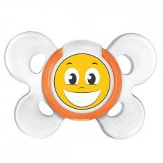 Suzeta Chicco silicon Physio Comfort, forma ortodontica, 12 luni+, smile