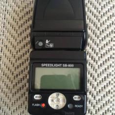Flash Nikon SB 800 perfect functional (functionalitate 10/10, estetic 9/10)