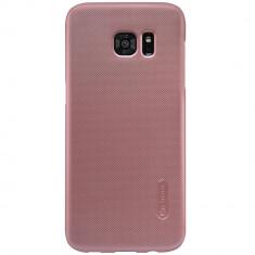 Husa Nillkin Frosted Shield Samsung Galaxy S7 Edge - BONUS FOLIE ECRAN - Husa Telefon Samsung, Roz, Plastic, Carcasa