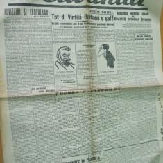 Cuvantul 1 februarie 1929 Eliade Nae Ionescu Sandu Tudor Banca nationala