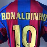 tricou fotbal NIKE RONALDINHO BARCELONA FC Campioana Spaniei si a Europei