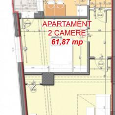 Apartament 2 camere, 62m, bloc nou, 64.000e - Apartament de vanzare, Numar camere: 2, An constructie: 2016, Etajul 6