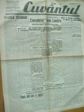 Cuvantul 20 octombrie 1929 Nae Ionescu Cadrilater Banat Banca Nationala, Nae Ionescu
