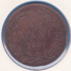 (R) MONEDA ROMANIA - 10 BANI 1867 - WATT & CO.