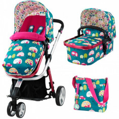 Sistem 3 in 1 Giggle Happy Campers Editie Limitata - Carucior copii 2 in 1 Cosatto