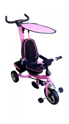 Tricicleta copii cu parasolar - roz foto mare