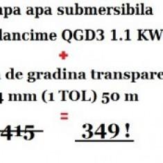 Pachet promotional Pompa de apa +50 m Furtun 1 TOL