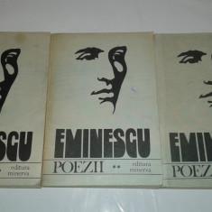EMINESCU - POEZII       Vol.1.2.3.          Editie critica de D.MURARASU
