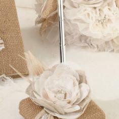 Lace Pen Burlap Set - Bustiera dama