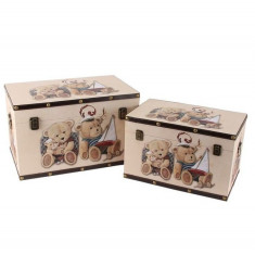 Juliana bagaje Set 2 cutii - Ursuleți de pluș - Revista moda