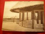 Ilustrata Valcov - Hotel Delta , vapor in spatele imaginii ,interbelica