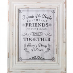 Cadru alb Scaune Sign - Invitatii nunta