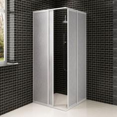 Cabină duș cadru dreptunghiular 80 x 90 cm panouri polipropilenă - Film thriller