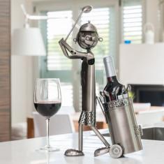 Suport Metalic pentru Sticle Golfer - Suport sticla vin