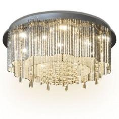 Candelabru cu cristale și leduri, diametru 55 cm - Cercei Fashion
