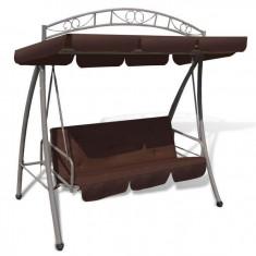Balansoar rabatabil cu acoperiș și arcadă pentru grădină, Cafeniu - Balansoar interior