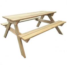 Masă picnic din lemn 150 x 135 x 71, 5 cm - Masa gradina