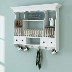 Dulap bucătărie din lemn suspendat Alb - Bufet bucatarie