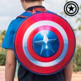 Rucsac Școlar Rotund 3D Captain America - Ghiozdan
