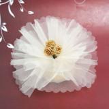 Fildeșului Crystal Ready Made Favor cu 3 de aur Panglica Roses - Conserve