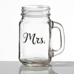 Doamna Mason Jar cane - Fotografie
