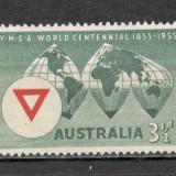 Australia. 1955 100 ani Asociatia Tinerilor Crestini YMCA KY.32 - Timbre straine, Nestampilat