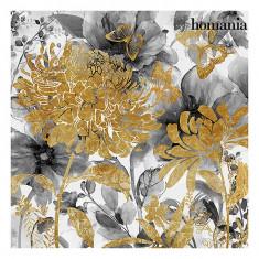 Tablou flori aurii by Homania - Pictor roman