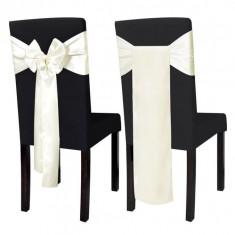 Set 25 de funde decorative pentru scaune din satin, crem - Set Darts