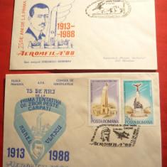 2 Plicuri speciale Aviatie --75 Ani de la incercarea de zbor peste Carpati '88
